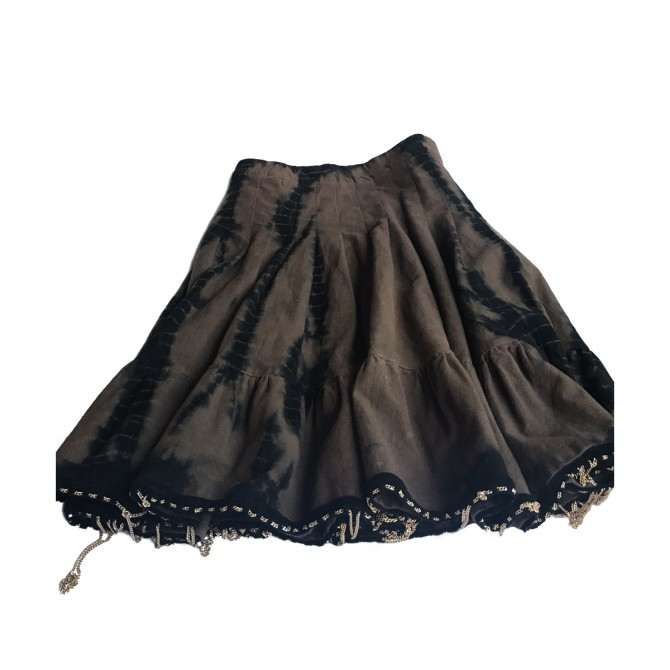 Gaetano Navarra brown black skirt