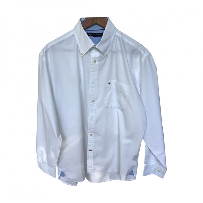 Tommy Hilfiger White Cotton Shirt size L