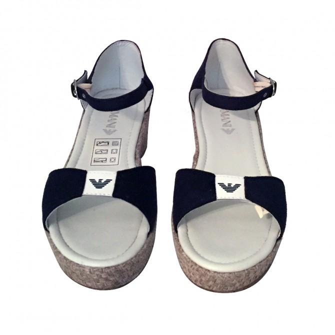 ARMANI JUNIOR  girls blue wedges size 39 , brand new