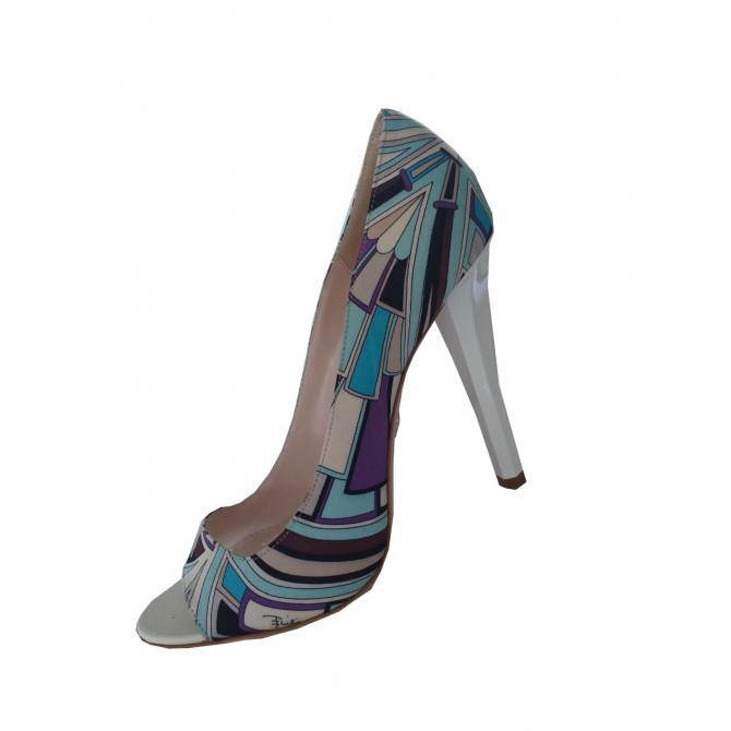 Emilio Pucci print heels size IT 38,5
