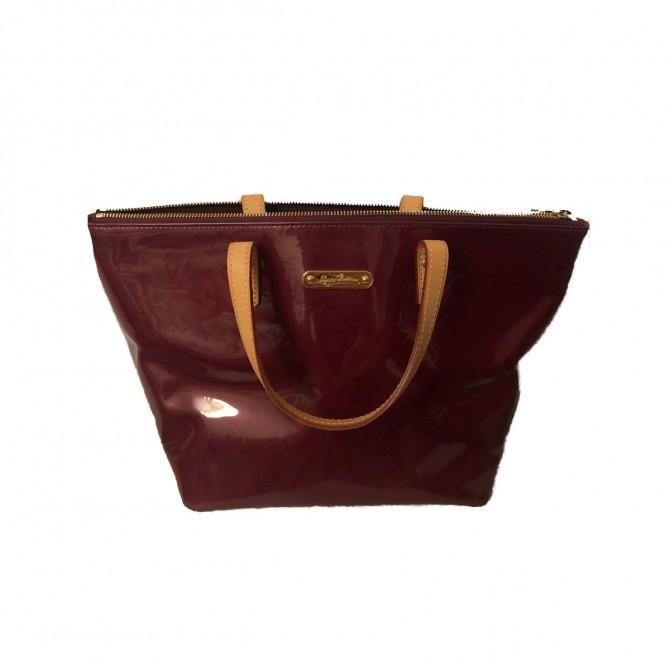 Louis Vuitton Bellevue Pm Vernis Purple Patent Leather tote Bag