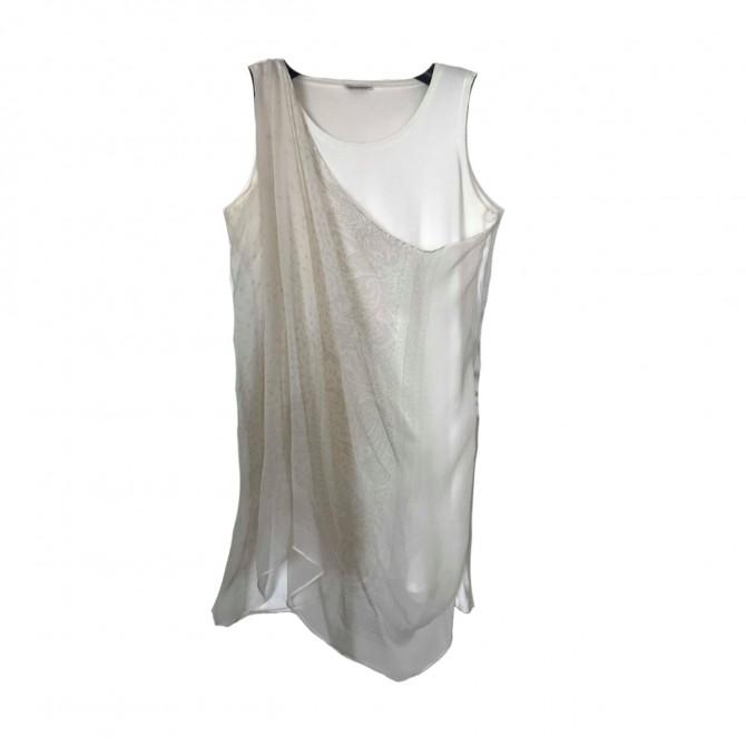 Brunello Cucinelli white top draped front