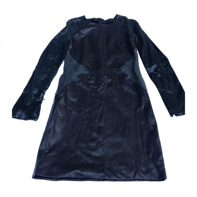American Retro Black Leather dress