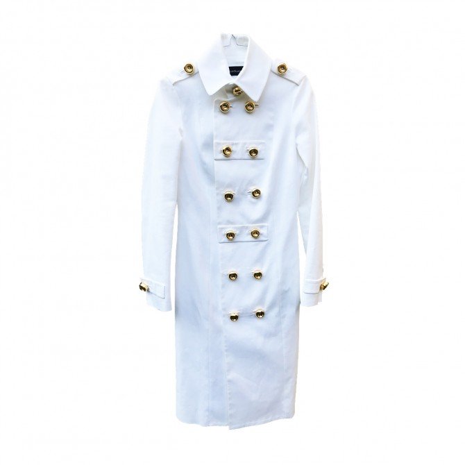 Dsquared2 White Trench Coat brand new tags attached