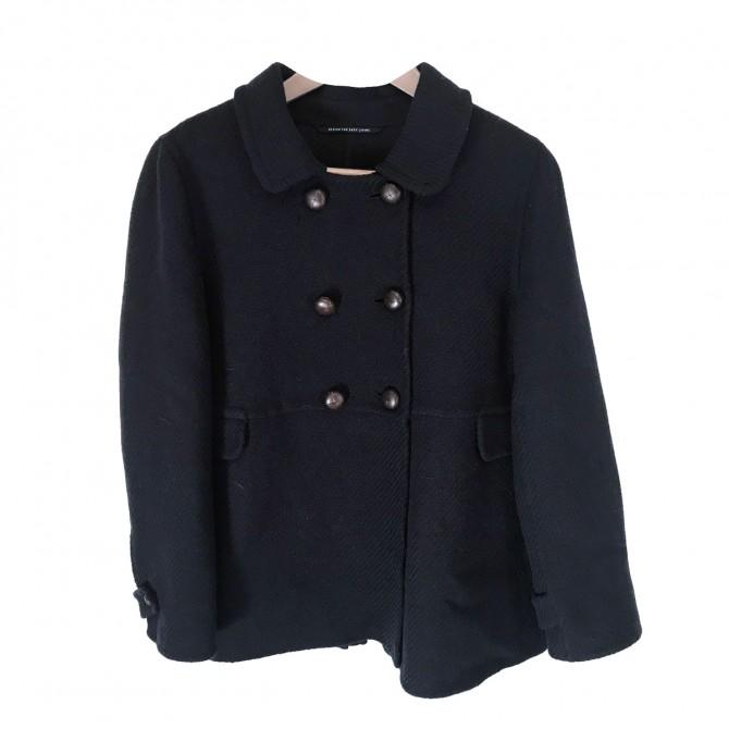 Max Mara Blue Black Coat