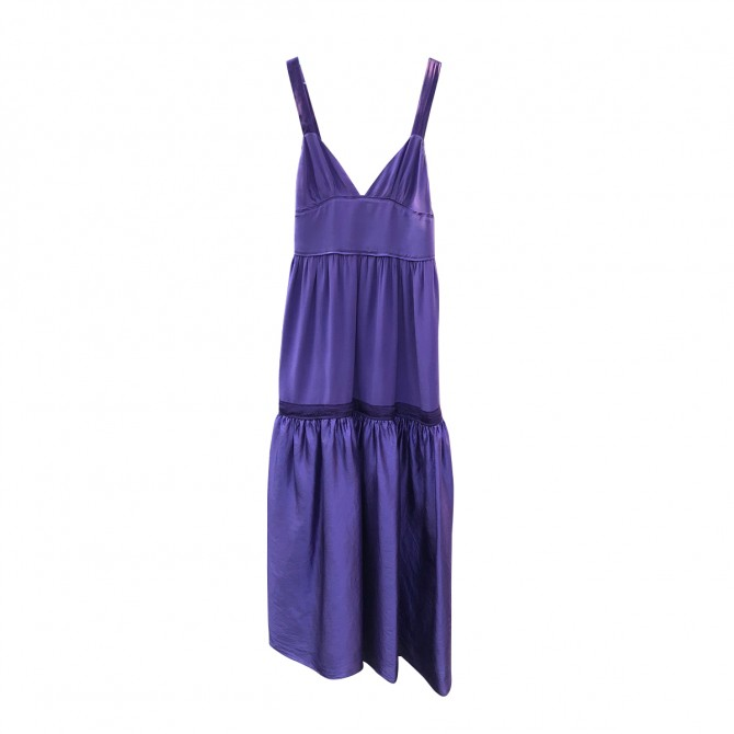 Missoni Purple Silk Dress