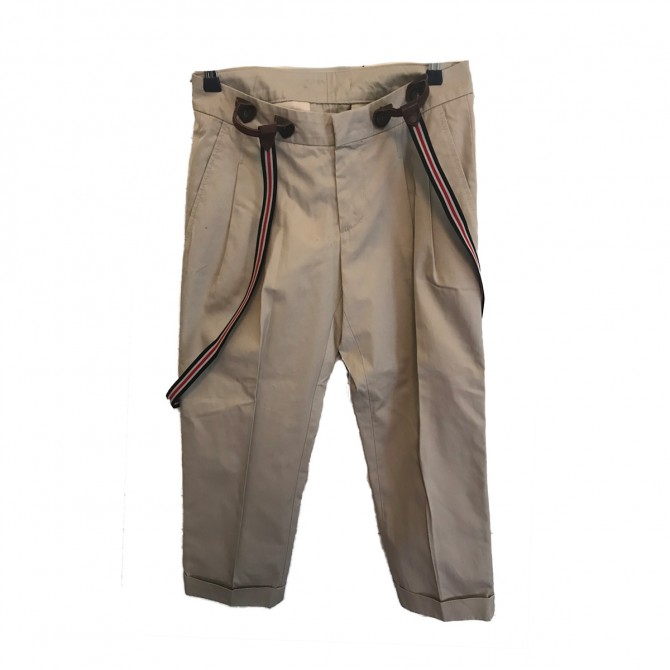 Dsquared2 Beige Trousers with thrashers