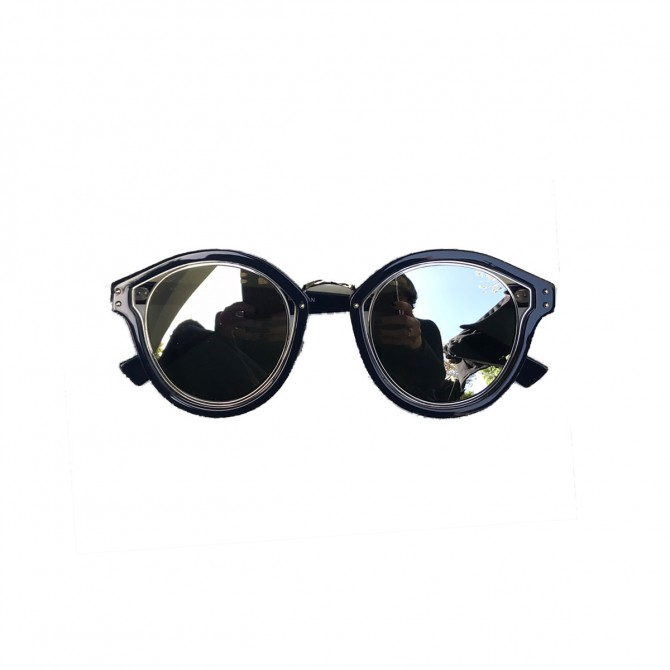 Christian Dior Navy Blue Mirror Sunglasses