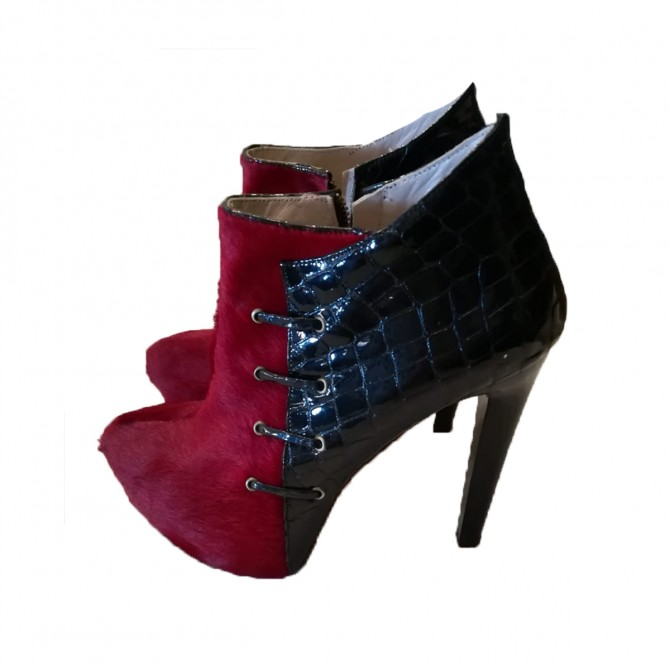 Dress2impress booties Cavallino Red leather size 37