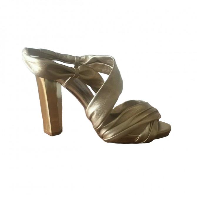 DVF Gold Heel Sandals  size IT 37