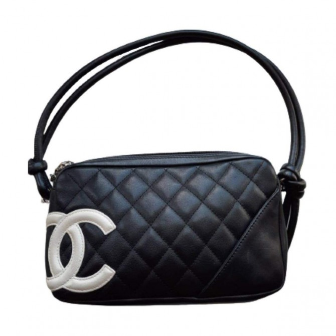 Chanel Cambon handbag with white logo