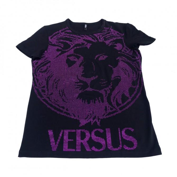 Versus Versace black glitter top