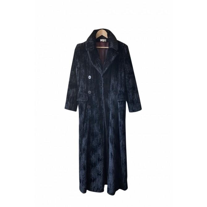 Georges Rech maxi faux fur black coat size FR40