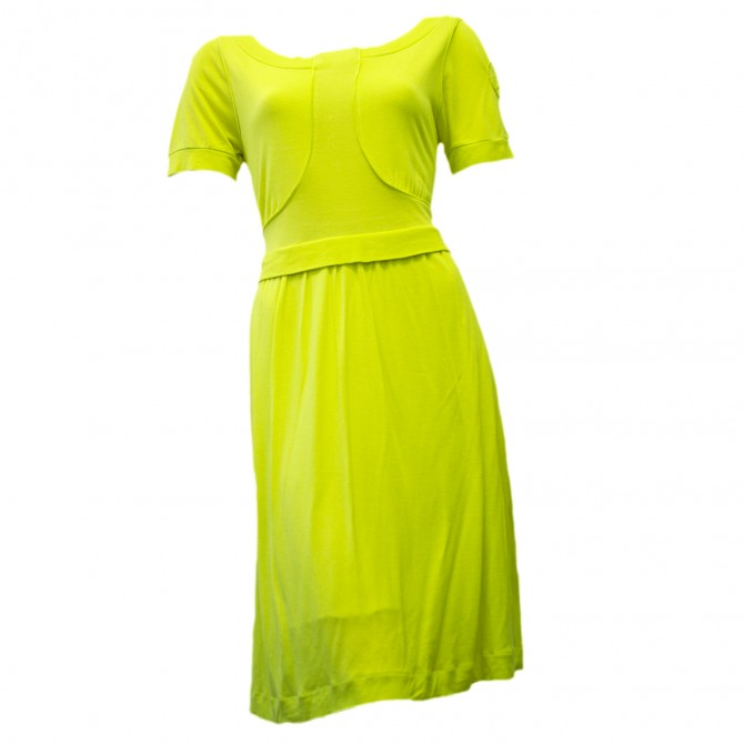 KENZO neopren yellow dress