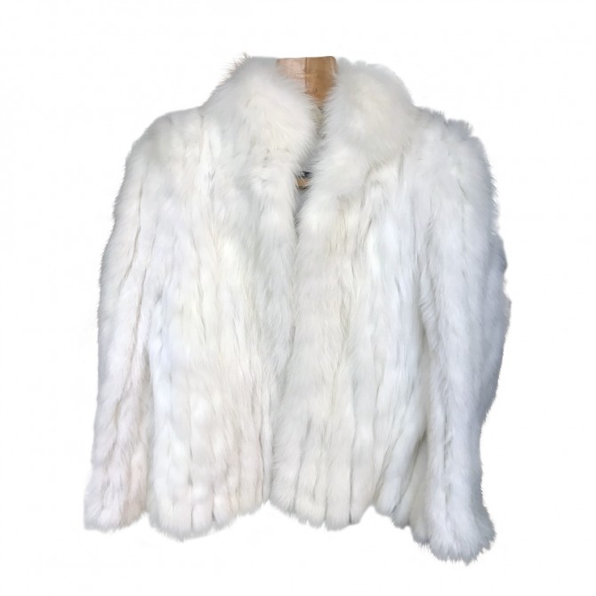 Renar Off white fur coat