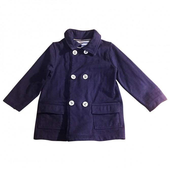 Petit Bateau navy blue cotton coat