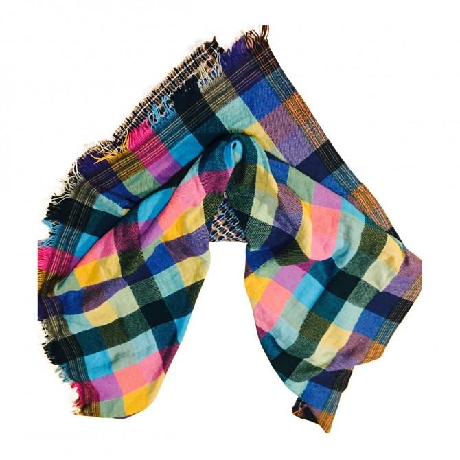 Pinko wool multicolor scarf