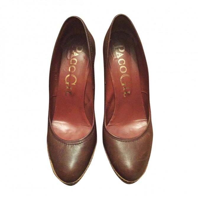 Paco Gil brown leather heels