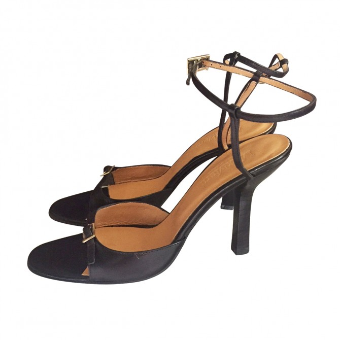 Max Mara open toe  high heeled sandals.