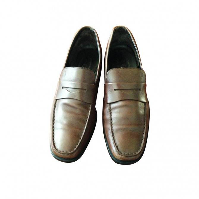 Tod's loafers in chocolate brown