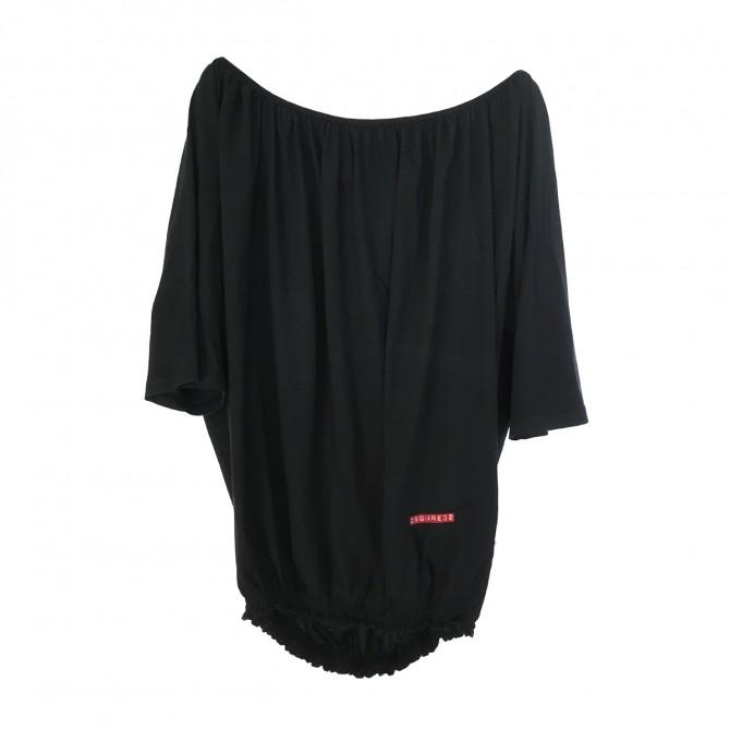 Dsquared2 black elasticated  waist band top