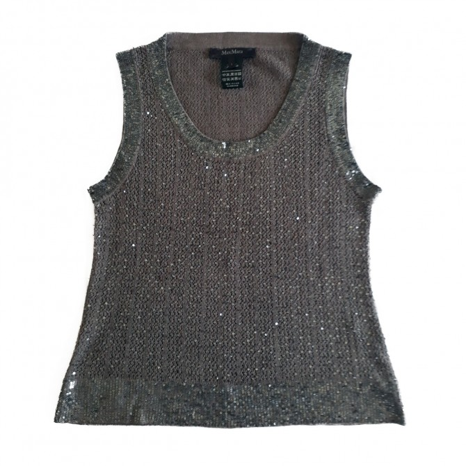 """MAX MARA ,""""PIANOFORTE """"collection , knitted top SIZE L"""