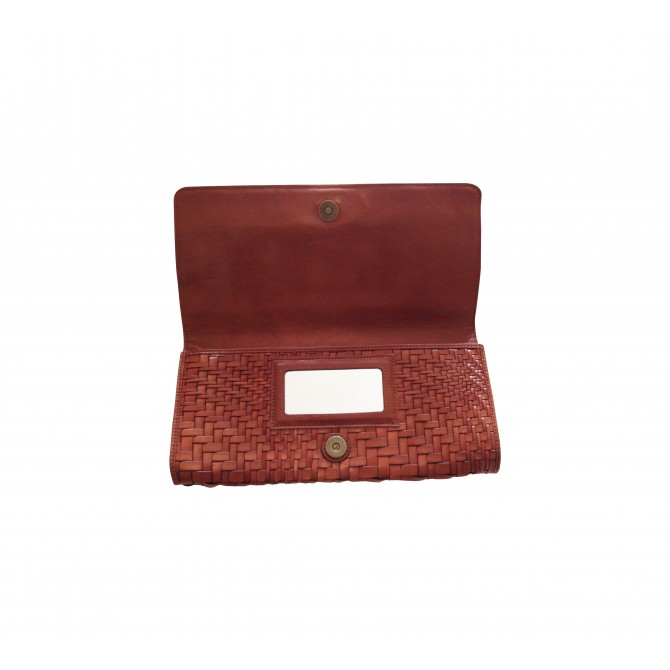Cole Haan tan leather clutch bag