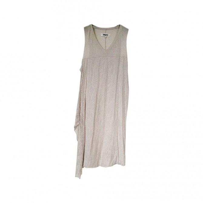 MM6 MAISON MARTIN MARGIELA PARIS taupe color dress