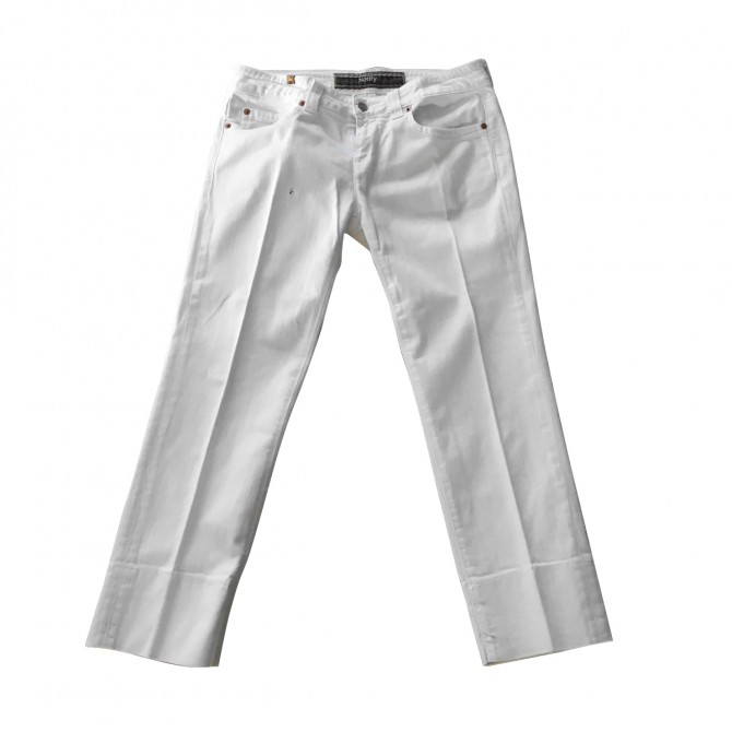 NOTIFY ecru cropped jeans brand new