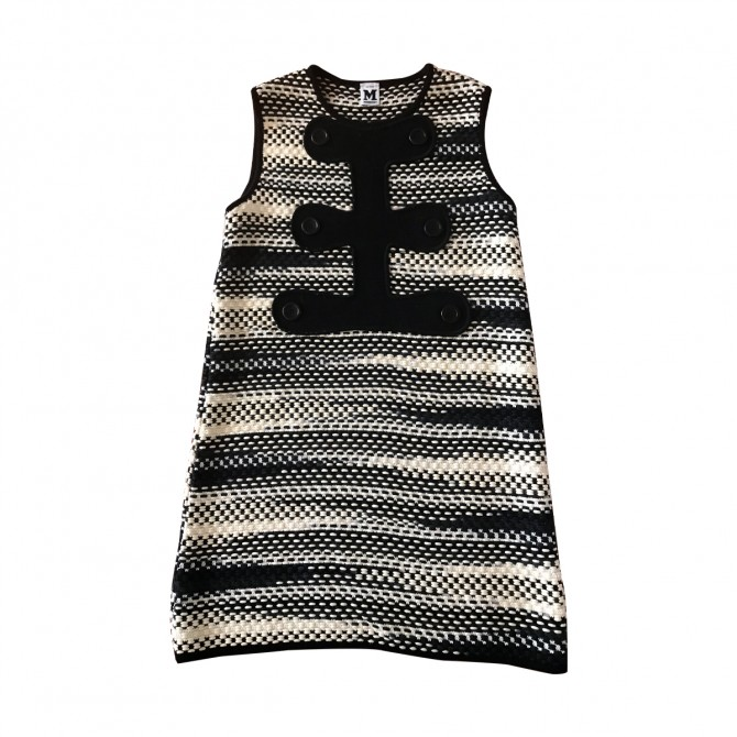 MISSONI KNITTED DRESS  IN BLACK AND WHITE