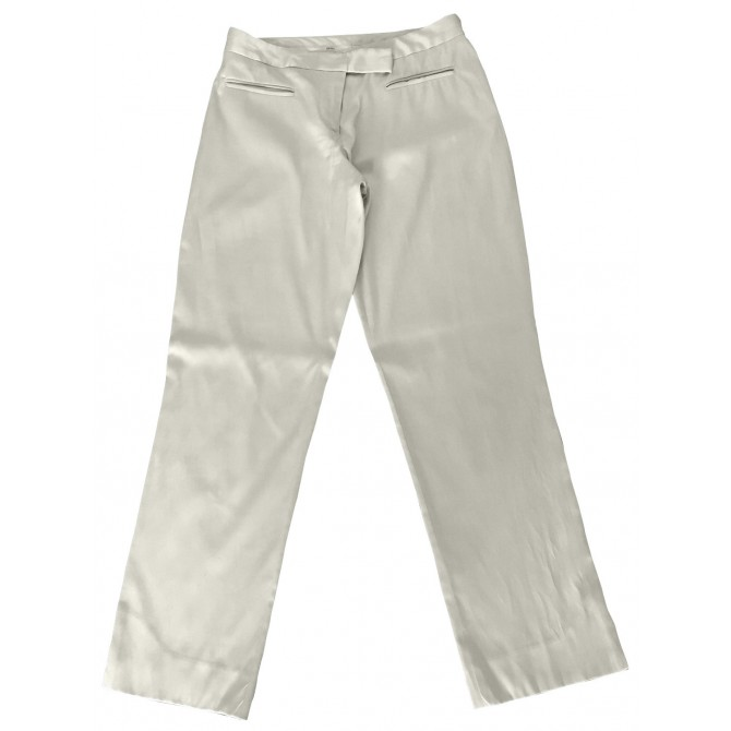 DKNY beige cropped trousers