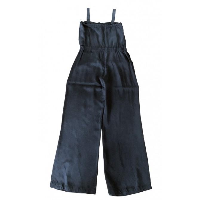 SPORTMAX MAX MARA black silk jumpsuit