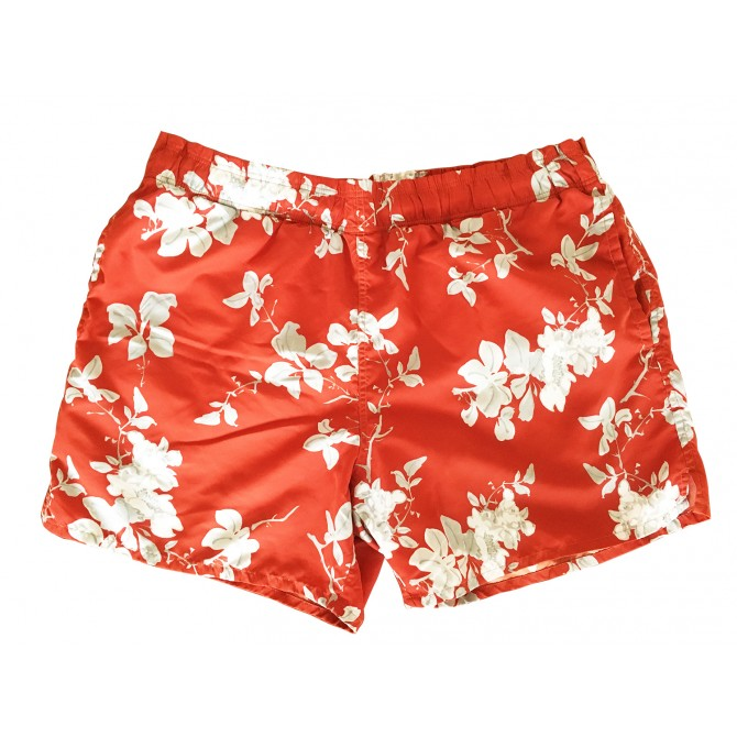 Zegna bloom swimwear in red and white