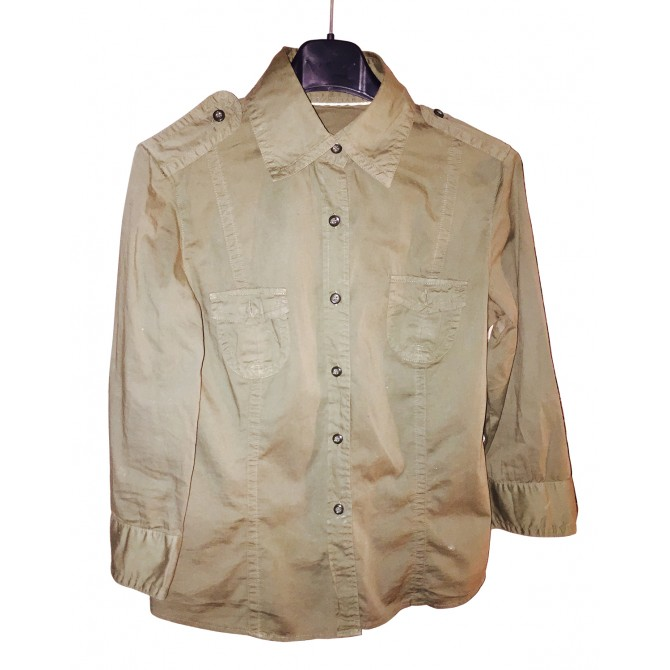 Fabulous Casual BURBERRY Ladies Military Khaki Shirt