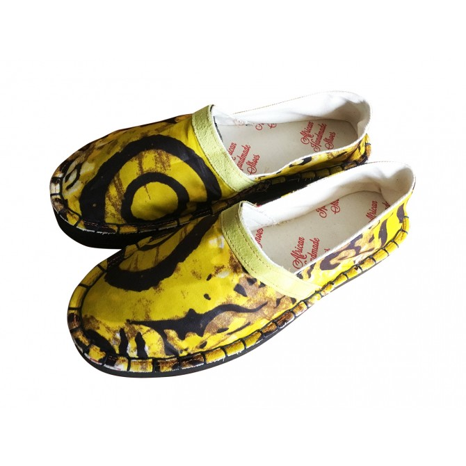"AFRICAN HANDMADE SHOES espadrilles ""high"" model"