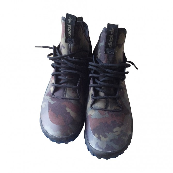ADIDAS TUBULAR X camouflage print high sneakers