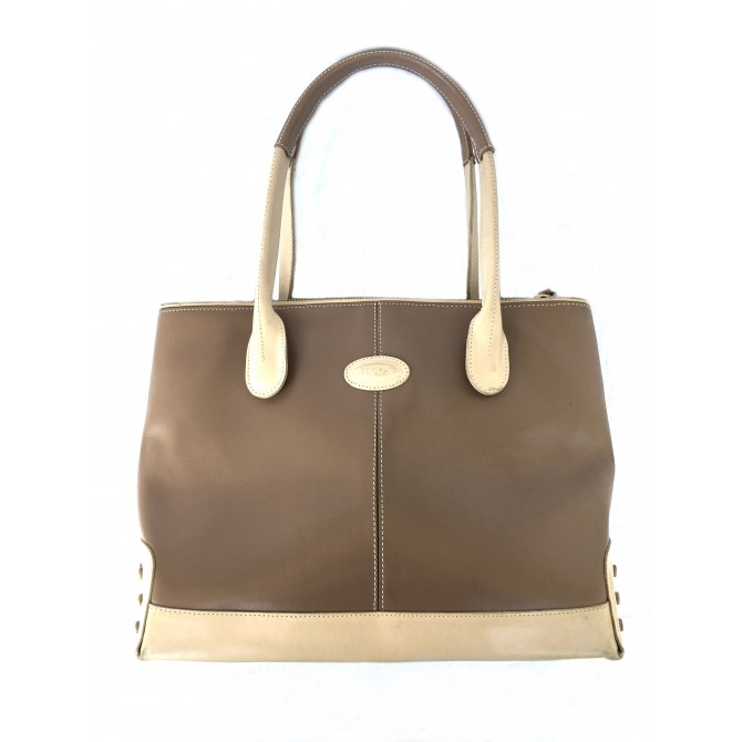 Tod's Beige Leather Handbag