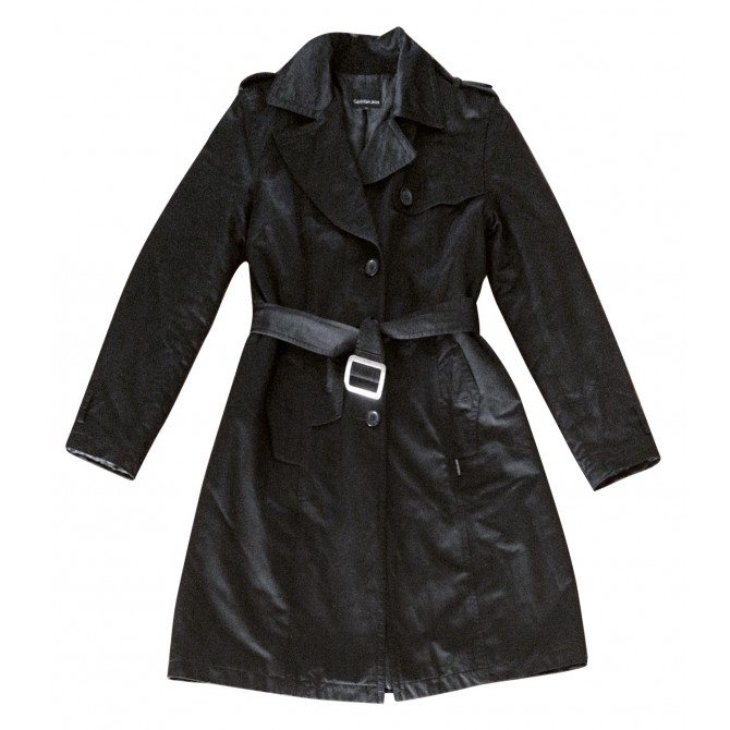 CALVIN KLEIN JEANS  black trench coat