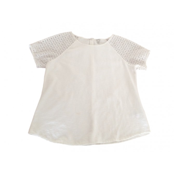 J CREW  broderie anglaise detailed top