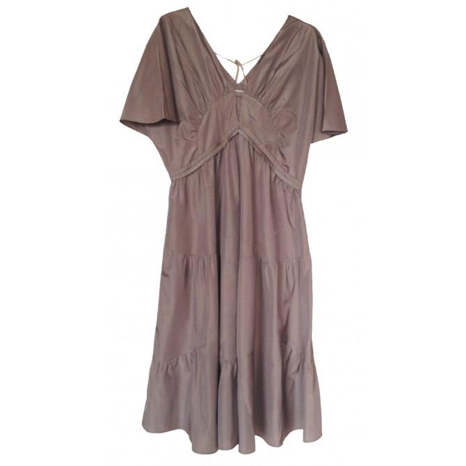 MIU MIU taffeta dress in mushroom color