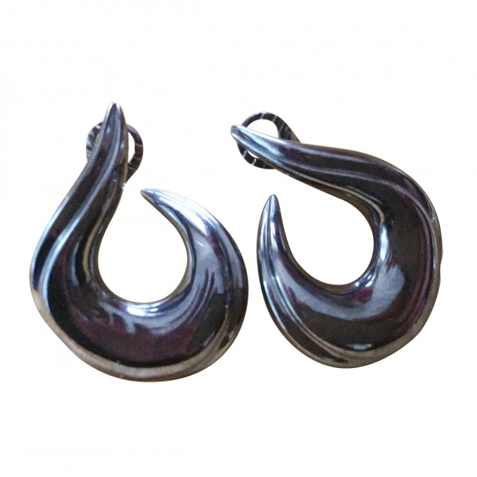 "Myrto Anastasopoulou black silver ""spice "" earrings"