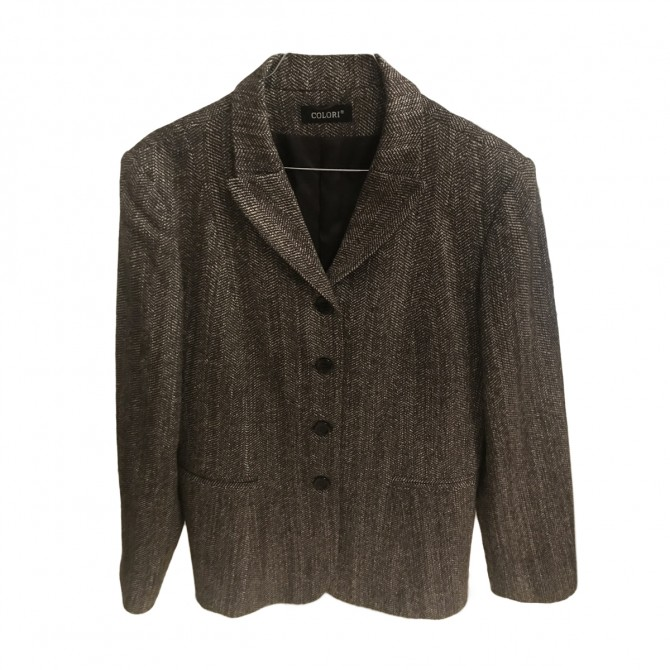 COLORI Greece brown  blazer jacket