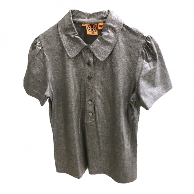 THEORY SILVER METALLIC TOP