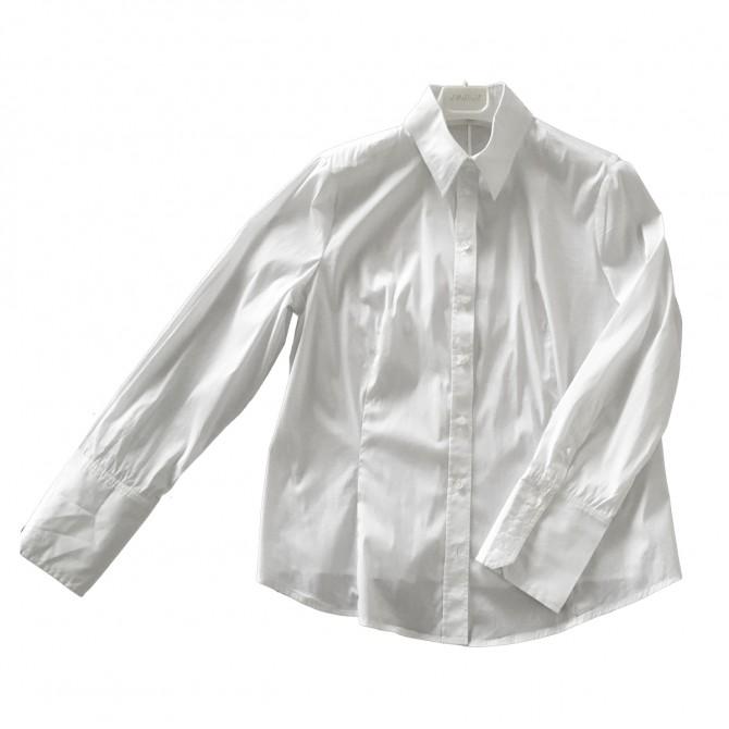 CLAUDIA STRATER white shirt