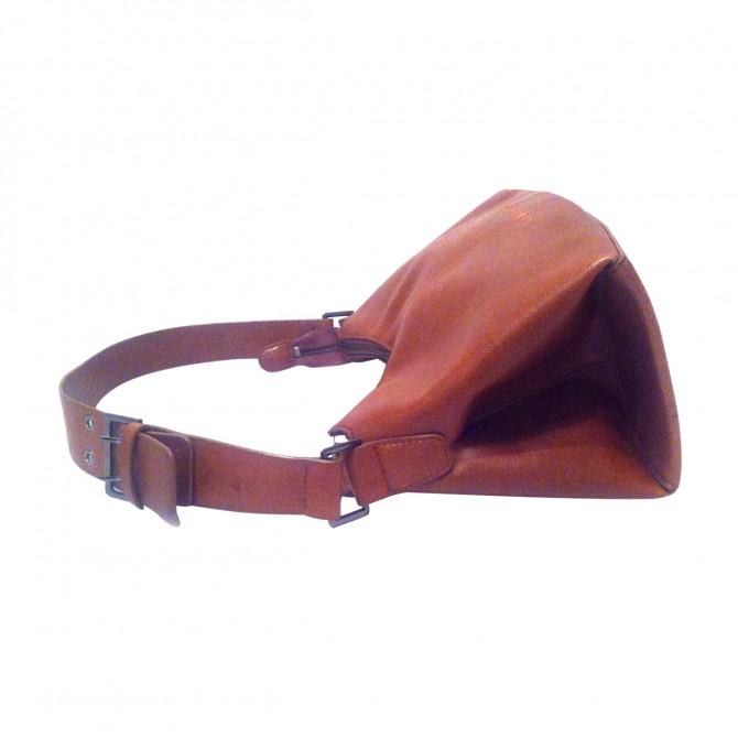 Lei di LANCETTI tan leather shoulder bag
