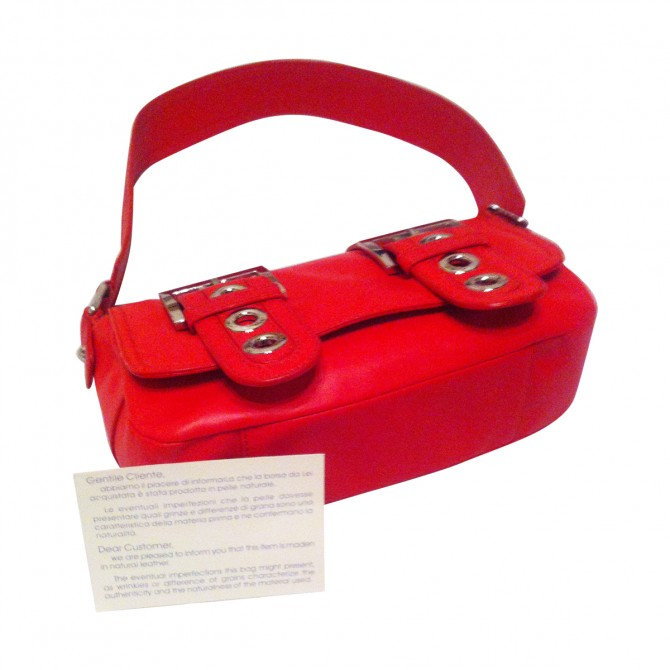 Versus by Versace red leather bag