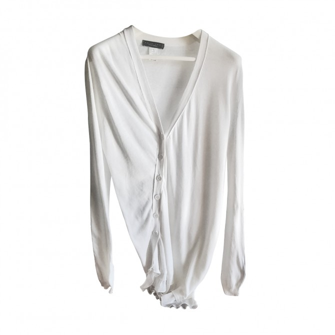 Twin Set white long cardigan sweater