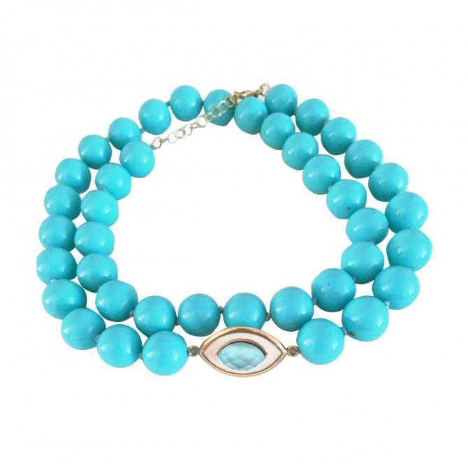 LI LA LO turquoise stones necklace