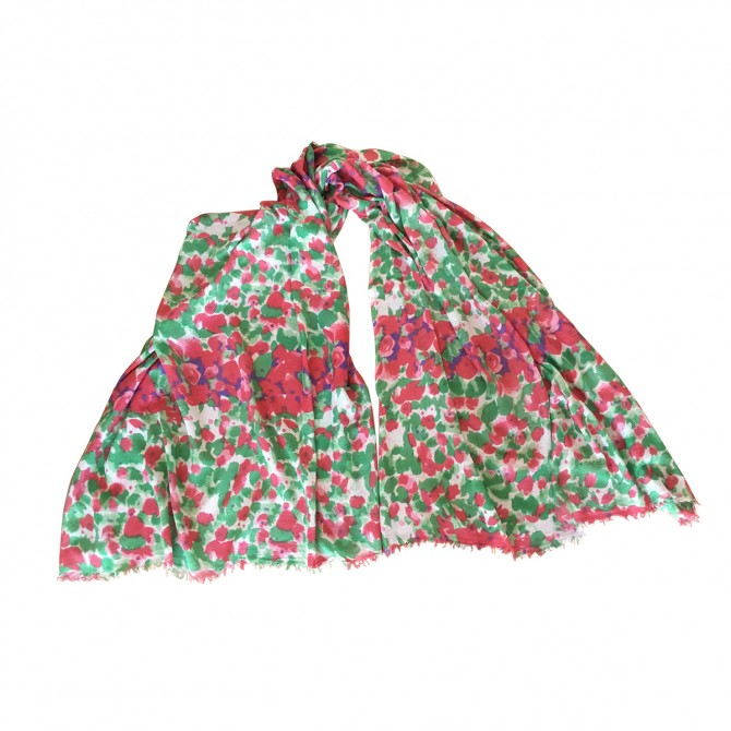 Bindya NY flower print large shawl