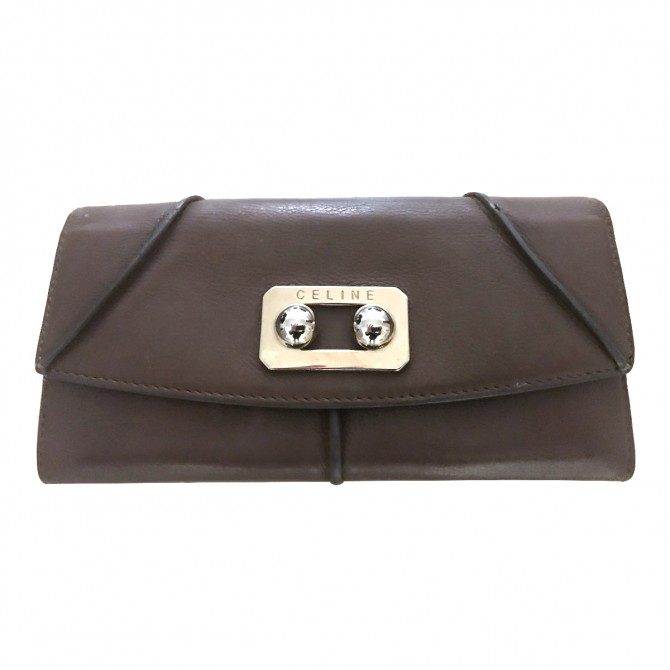 CELINE brown leather wallet